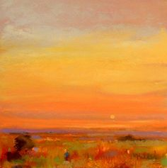 Warm Lights by Eve Miller Pastel ~ 8 x 8