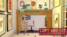 Loft Bed Set at DreamCatcherSims4 via Sims 4 Updates
