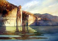 calming landscape watercolor - Google Search