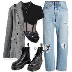 Source by ktmirjah Fashion outfits Aesthetic Fashion, Look Fashion, 90s Fashion, Winter Fashion, Fashion Outfits, Prep Fashion, Trendy Fashion, Outfits For Teens, Trendy Outfits