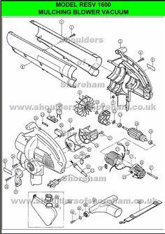 Rgbv3100      Ryobi    blower vac   Spare parts     Diagram     Tools