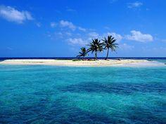 Sandy Island Off Lighthouse Reef Belize