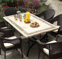 Monte Carlo Mosaic Patio Table