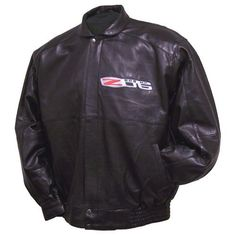C6 Z06 Corvette Hand Inlay Lambskin Bomber Jacket