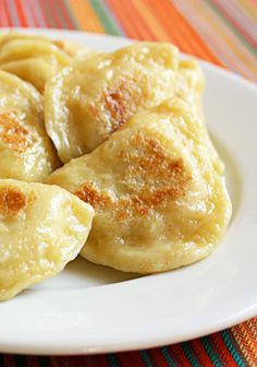 Polish Pierogi recipe from JennyCanCook.com - It takes just a few ingredients to make healthy, traditional home-style Polish pierogi with a delicious potato-cream cheese filling. Serve boiled or lightly browned.