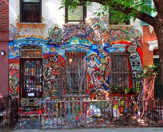 Mosaic house on Wykoff Street   Tom Rupolo