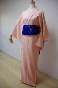 Kimono Dress Japan Vintage Awase Geisha costume used silk iromuji KDJM-A0042