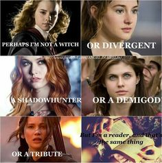 Who said anything about not being Divergent? Fandom Quotes, Fandom Memes, Harry Potter Feels, Harry Potter Quotes, Girl Power Quotes, Geeks, Book Memes, Book Girl, Book Reader