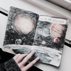 Planeten-Aquarell