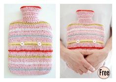 Hot Water Bottle Cosy Free Crochet Pattern
