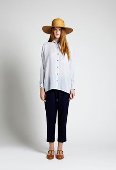 Sun Hat, Mimi Shirt and Laava Trouser   Samuji SS14 Classic Collection