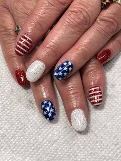of July Glitter Nails Light Elegance Little Red Sled, Diamond Red Nails, Glitter Nails, Patriotic Nails, Light Elegance, Gel Nail Designs, Sled, Little Red, 4th Of July, Diamond
