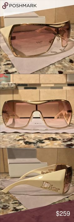 bf7ab3c9a44b Dior Gaucho 2 Oversized Aviator Sunglasses sunnies Excellent condition