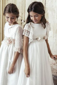 Find the perfect First Communion Dresses, First Holy Communion Dresses in Styletheaisle's Communion Dresses collection. The most beautiful designs of Dresses for First Communion and Girls Communion Dresses are NOW available. Girls First Communion Dresses, Holy Communion Dresses, White Communion Dress, Confirmation Dresses, Baptism Dress, Little Girl Dresses, Girls Dresses, Flower Girl Dresses, Girls White Dress