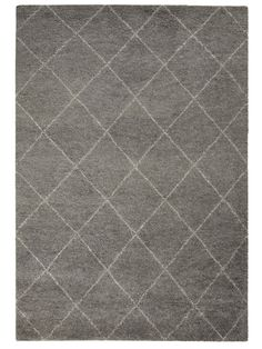 Inspired by traditional Berber designs, our Caliana rug has been hand tufted from wool with a simple soft grey and off white diamond design. This Moroccan inspired rug features a deep-pile for added comfort and style. Vintage Shabby Chic, Diamond Design, Grey Rugs, Shabby Chic Furniture, Tile Floor, Interior Design, Commercial, Lounge, Living Room