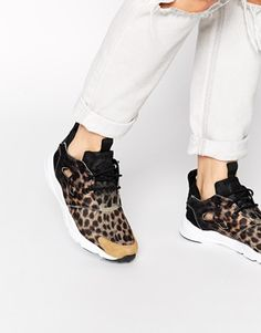 Buy Reebok Fury Lite Black Animal Print Trainers at ASOS. Get the latest trends with ASOS now. Reebok, Textiles, Fashion Musthaves, Baskets, Black Animals, Nike, Color Negra, Festival Fashion, Me Too Shoes