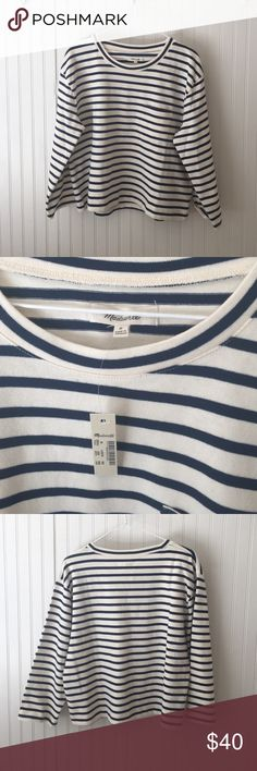Madewell Long-Sleeve Crop Tee A made-for-high-risers boxy tee in a low-key cropped length. In timeless stripes, this one does that nautical thing so well. Sold out on Madewell. Madewell Sweaters