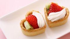طريقة عمل ميني تارت بالفراولة والكيوي - Strawberry and kiwi mini tarts recipe