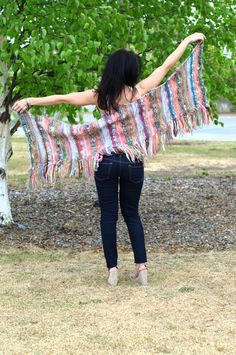 WOO! Spread out like an eagle, showing my hand-made knitted shawl pattern! Pattern is free!