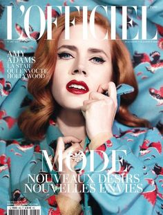 The L'Officiel Paris February 2014 Issue Stars Amy Adams #hollywood #hair trendhunter.com