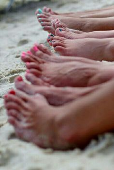 Toes in the sand...