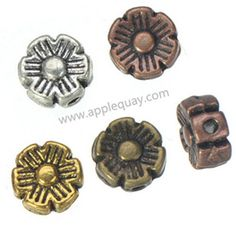 Zinc Alloy Flower Beads,Plated,Cadmium And Lead Free,Various Color For Choice,Approx 6.5*3.5mm,Hole:Approx 1mm,Sold By Bags,No002971