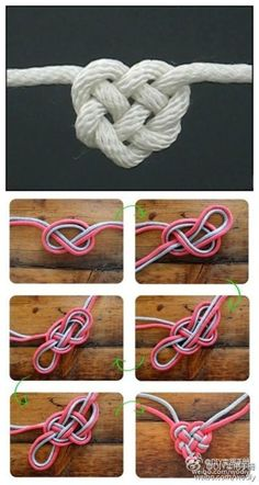 Love knot I wanna learn how to do this... with a really pretty metallic cord this would make a nice necklace