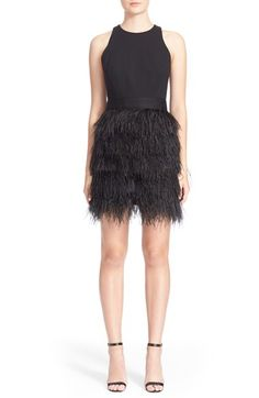 Milly 'Blair' Ostrich Feather Dress available at #Nordstrom