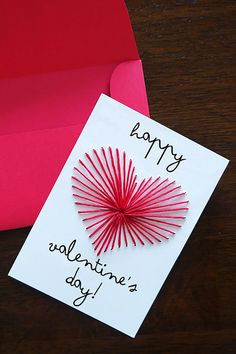 Homemade Birthday Cards For Boyfriend Ideas Diy Simple Birthday Card Ideas For Best Friend Boyfriend Simple. Homemade Birthday Cards For Boyfriend Ide. Valentines Bricolage, Diy Valentines Cards, Valentine Day Crafts, Happy Valentines Day Card, Homemade Valentine Cards, Valentines Greetings, Valentine Ideas, Creative Birthday Cards, Homemade Birthday Cards