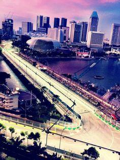 F1 track. Singapore