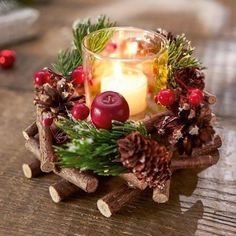 Windlichtgesteck Traditional Christmas - Gifts and Costume Ideas for 2020 , Christmas Celebration Christmas Lanterns, Christmas Balls, Christmas Time, Christmas Wreaths, Christmas Crafts, Xmas Table Decorations, Christmas Centerpieces, Table Centerpieces, Theme Noel