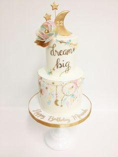 Dream big little one. Wild One Birthday Party, Birthday Cake Girls, First Birthday Cakes, Birthday Parties, Birthday Ideas, Dream Catcher Cake, Boho Cake, Big Cakes, Dream Cake