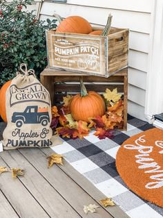 How to decorate your small porch for fall. Check out my fall porch decor to see how I used my limited porch space to its highest potential! Fall Table Centerpieces, Fall Decorations, Fall Decor Lanterns, Fall Home Decor, Fall Kitchen Decor, Fall Diy, Porch Decorating, Decorating Ideas, Decor Ideas