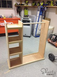 Free Woodworking Plans and an easy-to-follow tutorial to build your own customized dress up storage cart #woodworkplans