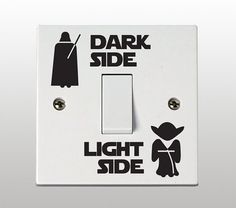 Star Wars Dark Side - helle Seite Lichtschalter Vinyl Sticker / Aufkleber (2-er Set)
