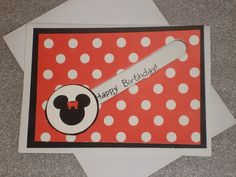Minnie Mouse Happy Birthday 3D Spinner by LadyJPaperGarden on Etsy #pcfteam