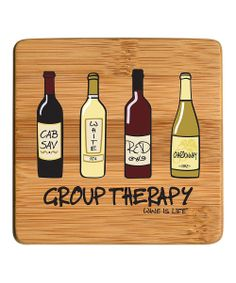 'Group Therapy' Bamboo Coaster - Set of Four - I think we need these in our lives @gshooz