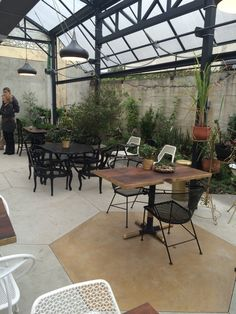 Photo of Mission Heirloom - Berkeley, CA, United States. The edible garden seating area.
