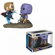 Marvel Movie Moments POP Vinyl Thor Vs Thanos And Infinity Gauntlet From Funko Funko Pop Marvel, Marvel Pop Vinyl, Pop Vinyl Figures, Funko Pop Figures, Thor Vs Thanos, Thanos Avengers, Marvel Marvel, Avengers Cast, Men In Black