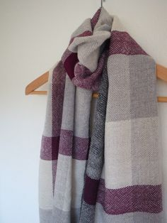 Hand woven cashmere scarf shawl with baby alpaca and by Handarbete, Sold and thank you!