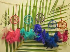 Mini Dream Catcher Colored Feathers via Style Alley. Click on the image to see more! Dreamcatchers, Feathers, Dreams, Mini, Cute, Image, Crafts, Inspiration, Color