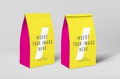 Paper Bags Mockups, Packaging Mockups, psd