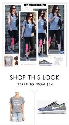 """""""#GET THE LOOK - Megan Fox Westlake Village and Cinema - 2016 November 5 -"""" by carla-turner-bastet ❤ liked on Polyvore featuring Sub_Urban Riot, NIKE, Thierry Lasry and meganfox"""