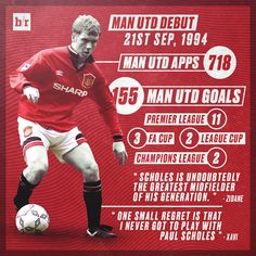 21/09 in 1994, Paul Scholes made his debut for Manchester United. The rest is history