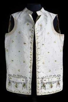 Herenvest (1775 - 1800) Zijde, geborduurd. Inventarisnummer 4373