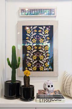 framed textiles.