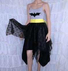 Dark Knight Batman Silver and Black Summer Dress Cosplay Costume Adult Medium MTCoffinz- Ready to Ship