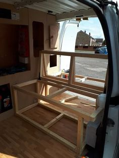 Wooden Rock & Roll Bed : 7 Steps - Instructables Vw T5 Interior, Campervan Interior, Van Conversion Interior, Camper Van Conversion Diy, Rock And Roll Bed, Rock Roll, Motorhome, Campervan Bed, Camper Beds