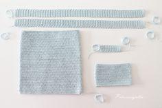 Tarvitset: 3 kerää Bomull Sport  tai Matilda  -lankaa   virkkuukoukun 2,75   neulan, sakset ja mittanauhan  (Handmade -merkin)  ...