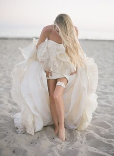 Beach bride: http://www.stylemepretty.com/california-weddings/santa-barbara/2014/07/21/santa-barbara-day-after-shoot/ | Photography: Chelsea Mitchell - http://www.chelseamitchellblog.com/